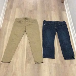 2 Pairs American Eagle Outfitters Pants Size 4
